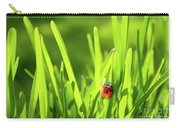 Ladybug In Grass Carry-all Pouch