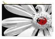 Ladybug On Daisy Carry-all Pouch