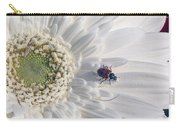 Ladybug On Daisy Petal Carry-all Pouch