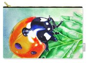 Ladybug On The Leaf Carry-all Pouch