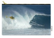 Laird Hamilton Going Left At Jaws Carry-all Pouch by Bob Christopher