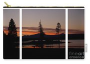 Lake Almanor Sunset Triptych Carry-all Pouch