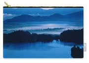 Lake And Moor In Mist Carry-all Pouch