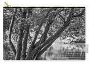 Lake Bench In Black And White Carry-all Pouch