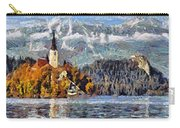 Lake Bled And Mountains Carry-all Pouch