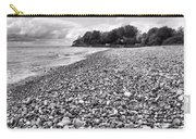 Lake Erie Coast Black And White Carry-all Pouch