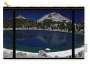 Lake Helen At Mt Lassen Triptych Carry-all Pouch by Peter Piatt