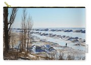 Lake Michigan In Ice Carry-all Pouch