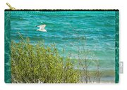 Lake Michigan Seagull In Flight Carry-all Pouch