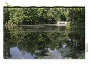 Lake On The Magnolia Plantation With White Bridge Carry-all Pouch