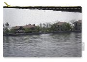 Lake Resort Framed From A Houseboat Carry-all Pouch