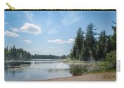 Up North - Lake Superior Misty Beach Carry-all Pouch by Patti Deters