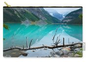 Lake With Canadian Rockies Carry-all Pouch