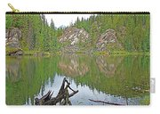 Lake Yellowhead Reflection Along Yellowhead Highway-british Columbia-canada Carry-all Pouch