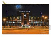 Lambeau Field At Night Carry-all Pouch by Tommy Anderson