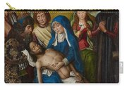 Lamentation With Saint John The Baptist And Saint Catherine Of Alexandria Carry-all Pouch