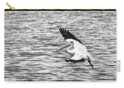 Landing Pelican In Black And White Carry-all Pouch