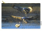 Landing Sandhill Cranes Carry-all Pouch by Steven Ralser