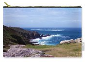 Land's End And Longships Lighthouse Cornwall Carry-all Pouch by Terri Waters