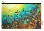 Landscape Bird Original Painting Family Time By Madart Carry-all Pouch