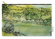 Landscape Pen & Ink With Wc On Paper Carry-all Pouch