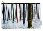 Landscape Winter Forest Pine Trees Carry-all Pouch