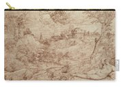 Landscape With A Dragon And A Nude Woman Sleeping Carry-all Pouch by Titian