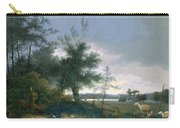 Landscape With A Fox Chasing Geese Carry-all Pouch