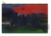 Landscape With A Red Sky Oil On Canvas Carry-all Pouch