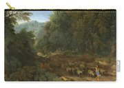 Landscape With A Shepherd And His Flock Carry-all Pouch