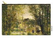 Landscape With A Sunlit Stream Carry-all Pouch