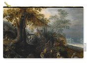 Landscape With Animals Carry-all Pouch