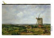 Landscape With Figures By A Windmill Carry-all Pouch by Frederick Waters Watts