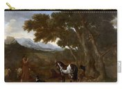 Landscape With Hermit Preaching To Animals Carry-all Pouch