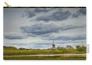 Landscape With The Dezwaan Dutch Windmill On Windmill Island In Holland Michigan Carry-all Pouch