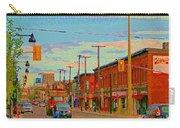 Landsdowne Condos 5th Avenue The Glebe Ottawa Street Scene Paintings Carole Spandau Canadian Art Carry-all Pouch