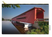 Langley Covered Bridge Michigan Carry-all Pouch by Steve Gadomski