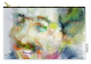 Langston Hughes - Watercolor Portrait Carry-all Pouch