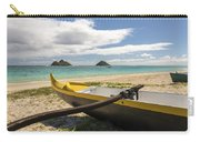 Lanikai Beach Outrigger 1 - Oahu Hawaii Carry-all Pouch by Brian Harig