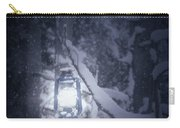 Lantern In Snow Carry-all Pouch