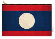 Laos Flag Vintage Distressed Finish Carry-all Pouch
