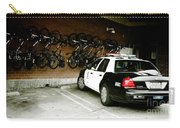 Lapd Cruiser And Police Bikes Carry-all Pouch by Nina Prommer