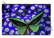 Large Green Butterfly Carry-all Pouch