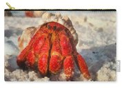 Large Hermit Crab On The Beach Carry-all Pouch