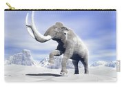 Large Mammoth Walking Slowly Carry-all Pouch by Elena Duvernay