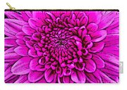Large Pink Dahlia Retro Style Carry-all Pouch