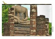 Large Sitting Buddha At Wat Mahathat In 13th Century Sukhothai H Carry-all Pouch