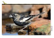 Lark Bunting Calamospiza Melanocorys Carry-all Pouch