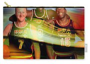 Larry Bird Michael Jordon And Magic Johnson Carry-all Pouch