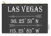 Las Vegas Coordinates Carry-all Pouch